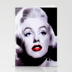 Marilyn In Black And Whi… Stationery Cards