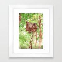 Treehouse Retreat Framed Art Print