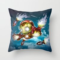 Lil' Iron Dude Throw Pillow