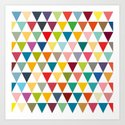 Colourful flags Art Print