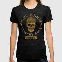Bad Boy Club: Five Points Bowery Boys Womens Fitted Tee Tri-Black SMALL