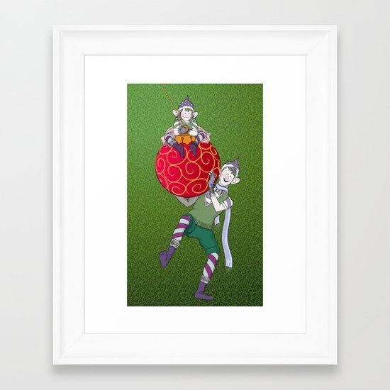 Christmas Nisse Framed Art Print