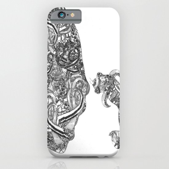 Homme Poisson B&W iPhone & iPod Case