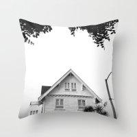 Whit House White Sky Throw Pillow