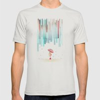Rainy Day Mens Fitted Tee Silver SMALL