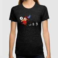 The Pied Piper Of Hameli… Womens Fitted Tee Tri-Black SMALL