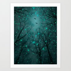 Silently, One by One, the Infinite Stars Blossomed (Geometric Stars Remix) Art Print