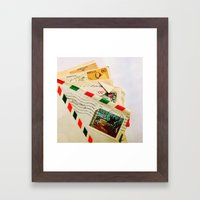 All The Letters That I Wrote To You Framed Art Print
