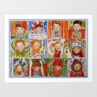 The Twelve Kids Of Chris… Art Print
