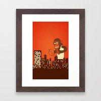 Monkey On Your Back Framed Art Print