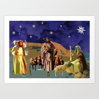 The Christmas Story Shep… Art Print