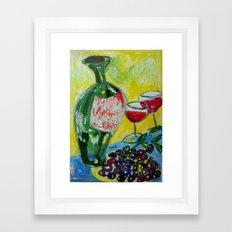 Olives & Wine Framed Art Print