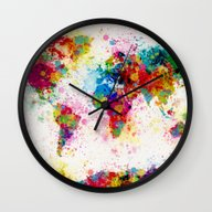 Map Of The World Map Pai… Wall Clock
