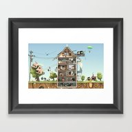 Daily Life Framed Art Print