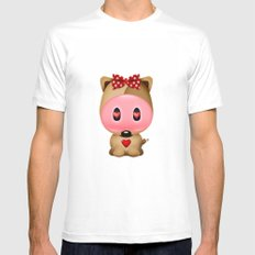 Love Bear SMALL Mens Fitted Tee White