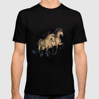 HORSES - The Buckskins Mens Fitted Tee Black SMALL