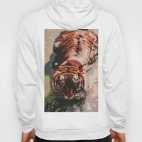 Tiger in the Water Painting Hoody