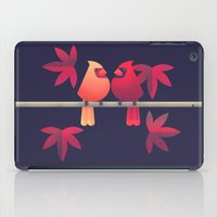 Northern Cardinals on a Japanese Maple iPad Case