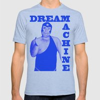Memphis Wrestler Dream M… Mens Fitted Tee Athletic Blue SMALL