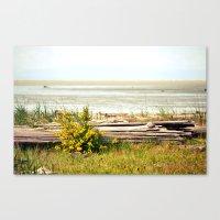 see the horizon break Canvas Print