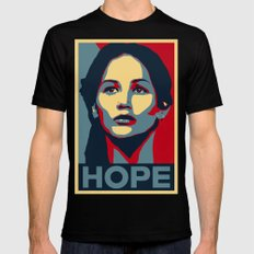 Hunger Games - Hope Mens Fitted Tee SMALL Black