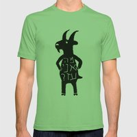 Goats Mens Fitted Tee Grass SMALL
