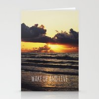 Wake Up and Live Stationery Cards