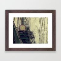 Lonely with Stairs Framed Art Print