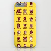 iPhone & iPod Case featuring Happy Little Marvels - Yellow by fiskofury