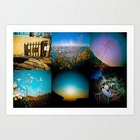 Hiking In Los Angeles Art Print