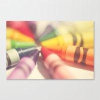 Crayon Love: Color Explo… Canvas Print