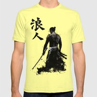 Ronin Mens Fitted Tee Lemon SMALL