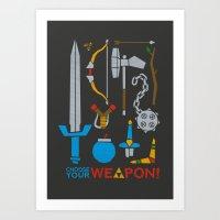 Choose Your Weapon Dark Art Print
