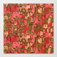 Faces Pattern Canvas Print