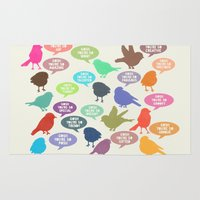 Birdsong Gosh Quotes by Rachel Burbee & Garima Dhawan Rug