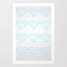 Diamonds Are A Girls Best Friend Art Print