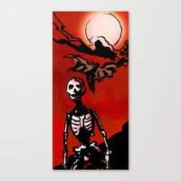Wandering Skull Canvas Print