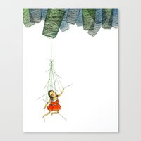 Marionette Girl Canvas Print