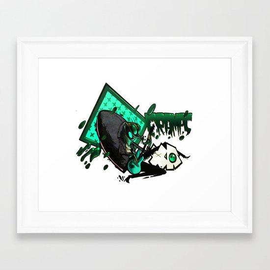 HUMAN FLY 2 Framed Art Print