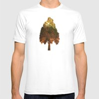 Glittering Forest Mens Fitted Tee White SMALL