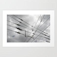 Above the train. Art Print