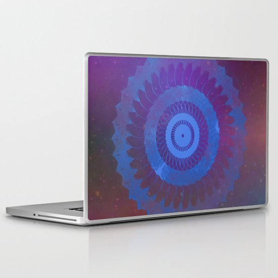 Technicolor Cosmos Blue Laptop & iPad Skin