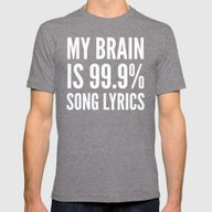 My Brain Is 99.9% Song L… Mens Fitted Tee Tri-Grey SMALL