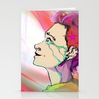 The Girl That Stared Int… Stationery Cards