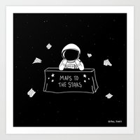 Selling Maps To The Star… Art Print