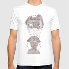 North, East, West Mens Fitted Tee White SMALL