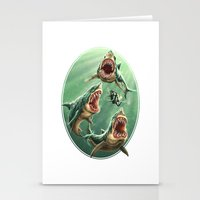 Great White Sharks #1 Stationery Cards