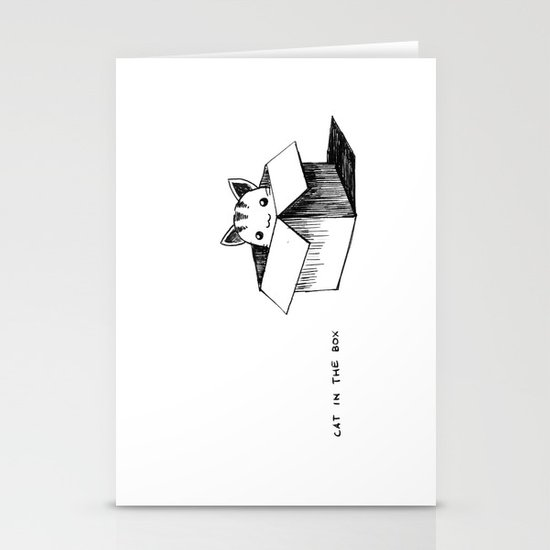 Cat in the box Stationery Card