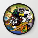 Bird of Steel Comix - Page #5 of 8 (Society 6 POP-ART COLLECTION SERIES)  Wall Clock