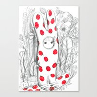 Silent in the forest Canvas Print